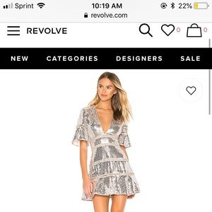 Saylor Sidney Dress (silver) currently on Revolve